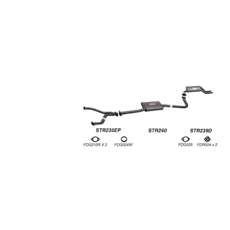 REDBACK EXHAUST - SPORTS SYSTEM TO SUIT FORD FAIRMONT AU (1998 - 2002), FORD FALCON AU (1998 - 2002)