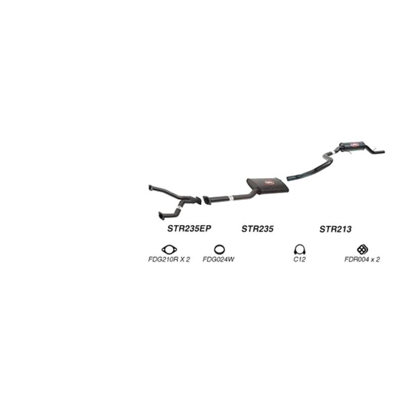 Redback Sports System to suit Ford Fairmont, Falcon (01/1998 - 09/2002)