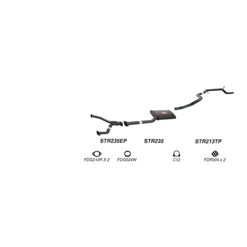 Redback Sports System to suit Ford Fairmont (01/1998 - 09/2002), Falcon (01/1998 - 06/2000)