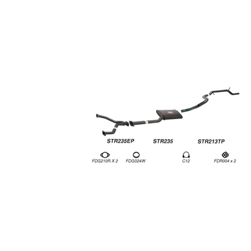 REDBACK EXHAUST - SPORTS SYSTEM TO SUIT FORD FAIRMONT EB, ED, EF, EL (1992 - 2000), FORD FALCON EB, ED, EF, EL (1992 - 1998)