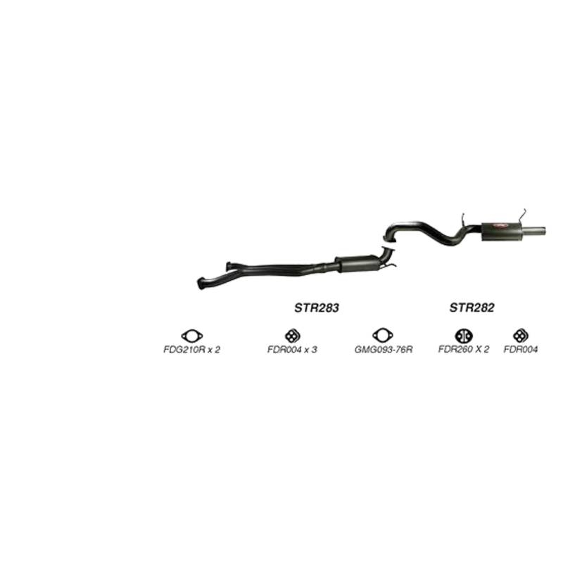 REDBACK EXHAUST - SPORTS SYSTEM TO SUIT FORD FALCON FG (2008 - 2011), FPV FALCON FG (2008 - 2010), FPV GS FG (2009 - 2010), FPV GT FG (2008 - 2010), FPV GT-E FG (2008 - 2010), FPV GT-P FG (2008 - 2010)