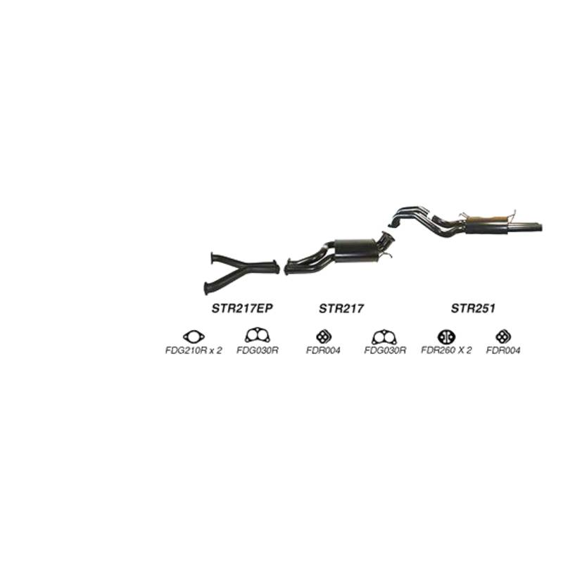 Redback Sports System to suit Ford Falcon (2008 - 2011), FPV Falcon, GT-P, GT, GT-E, GS (2008 - 2010)