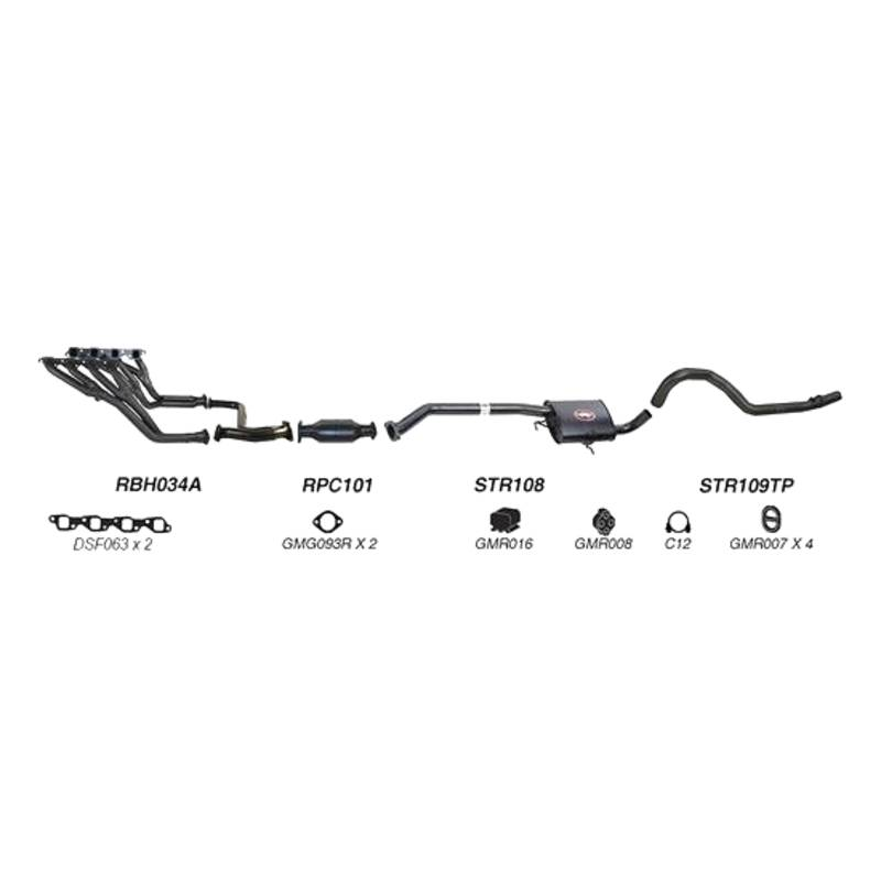 Redback Sports System to suit Holden Commodore (01/1988 - 2000)