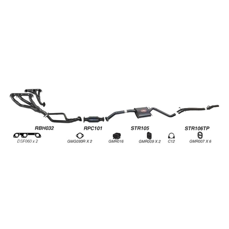 REDBACK - SPORTS SYSTEM TO SUIT HOLDEN CALAIS VP, VR (1991 - 1995), HOLDEN COMMODORE VP, VR (1991 - 1995)