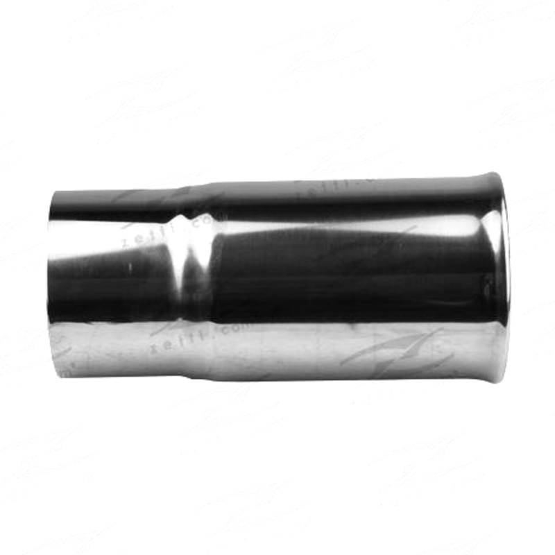 """Tip Double Walled / Straight Cut / Rolled In - In 63mm(2-1/2""""), Out 70mm(2-3/4""""), L 150mm(6""""), Stainless"""