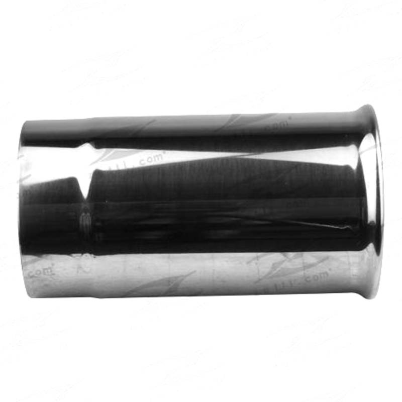"""Tip Double Walled / Straight Cut / Rolled In - In 76mm(3""""), Out 83mm(3-1/4""""), L 150mm(6""""), Stainless"""