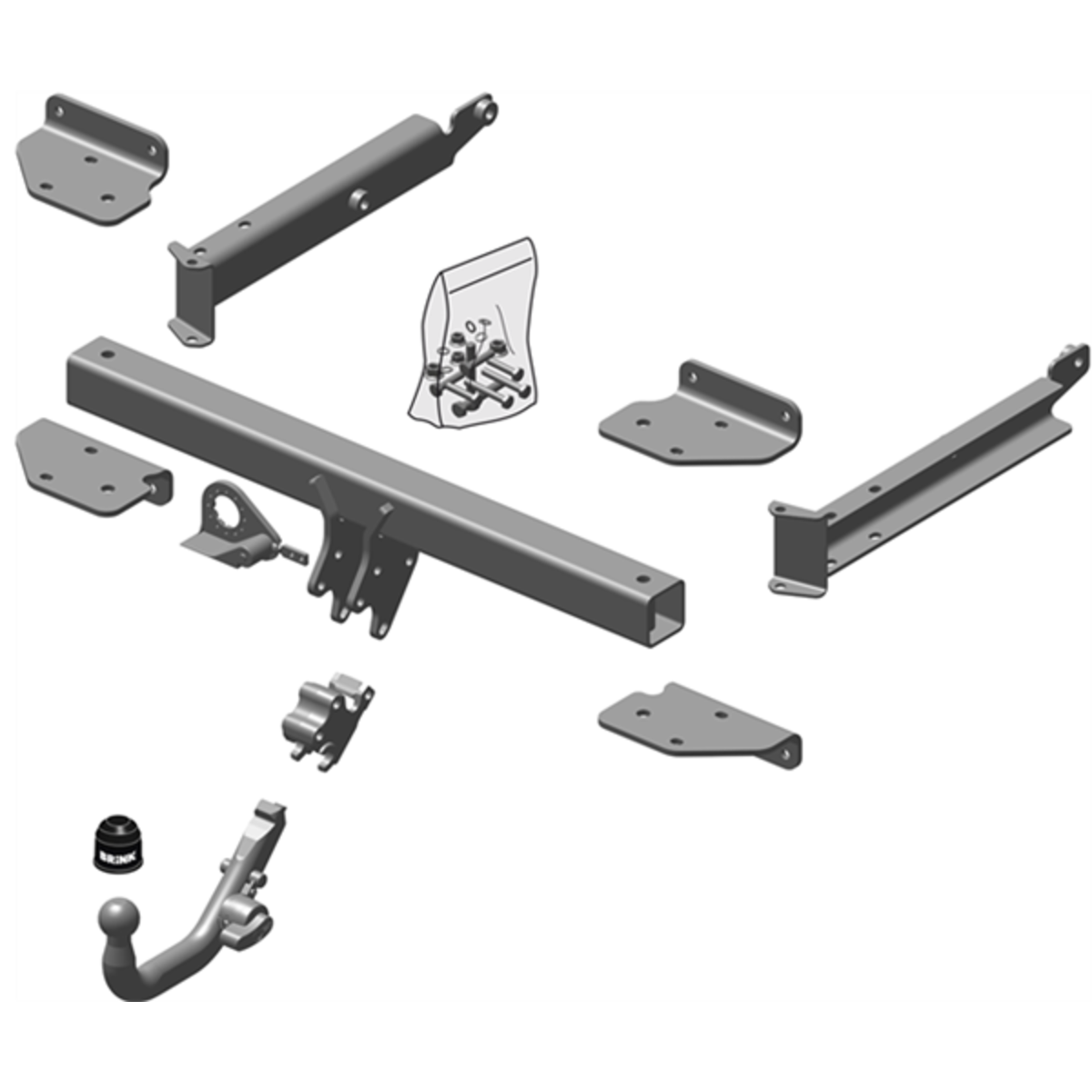 Brink Towbar to suit MERCEDES-BENZ M-CLASS (07/2005 - on)