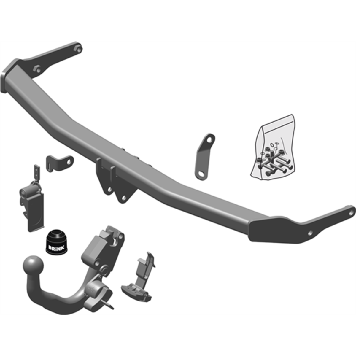 Brink Towbar to suit Volkswagen Polo (09/2017 - on), Seat Ibiza (01/2017 - on)