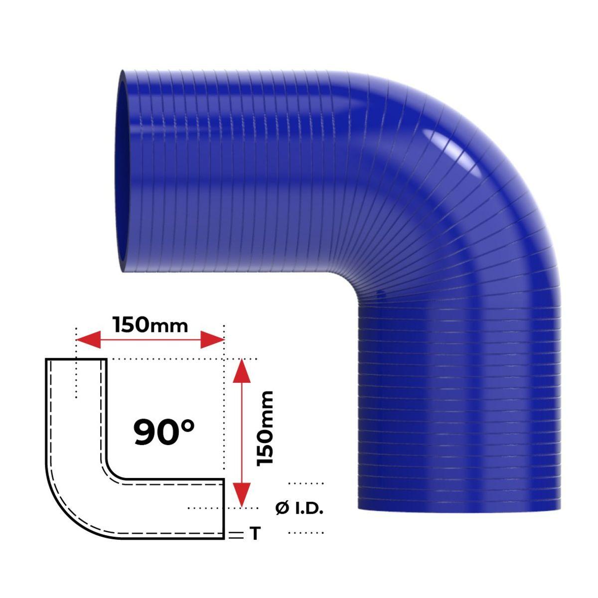 """Redback Silicone Hose (2-1/4"""") 90° Bend"""