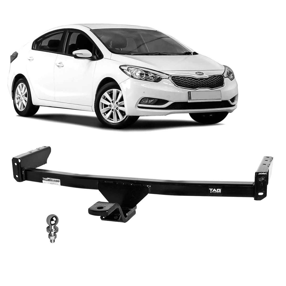 TAG Light Duty Towbar to suit KIA Cerato (08/2013 - 03/2018) - No Wiring Harness