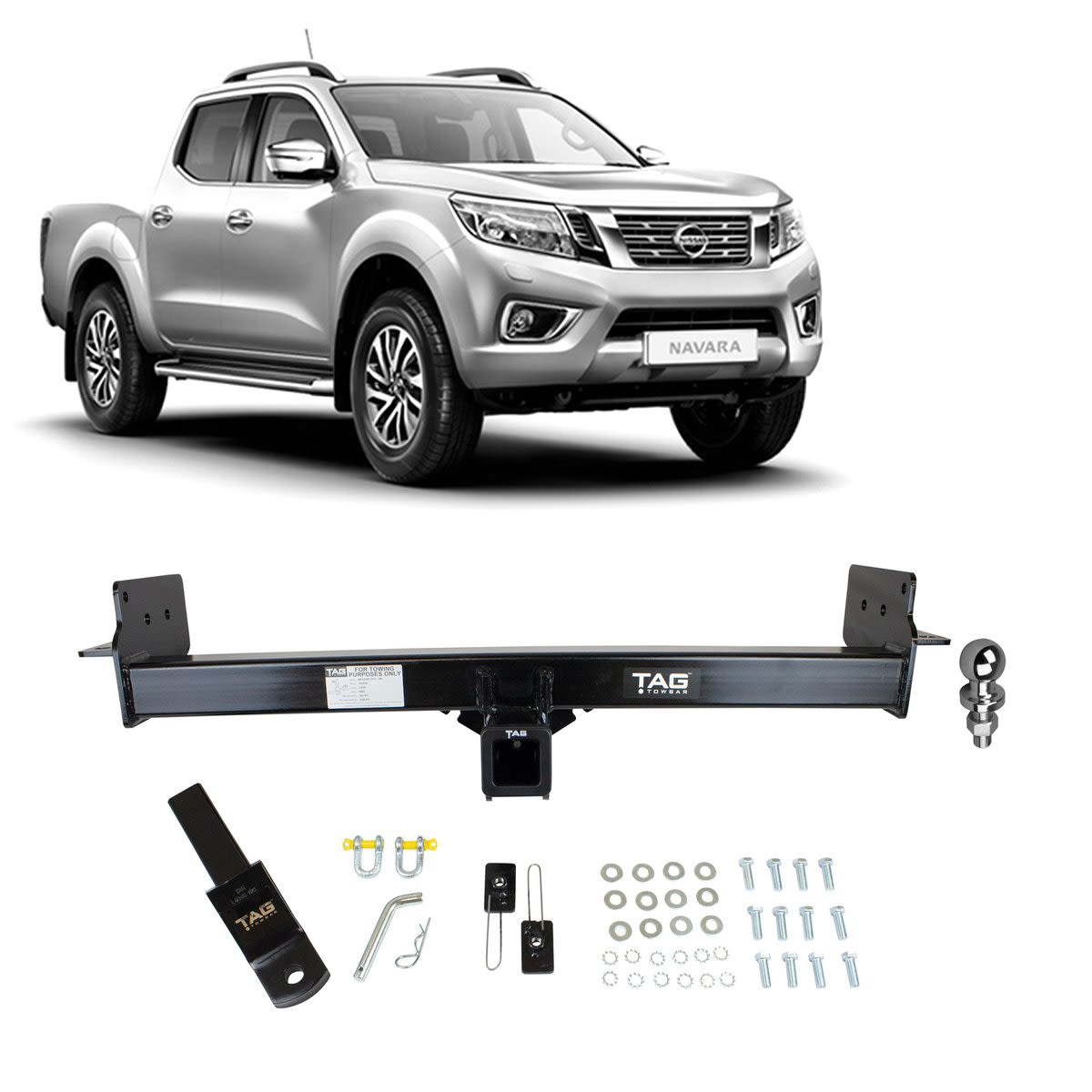TAG Heavy Duty Towbar to suit Nissan Navara (07/2015 - on) - No Wiring Harness