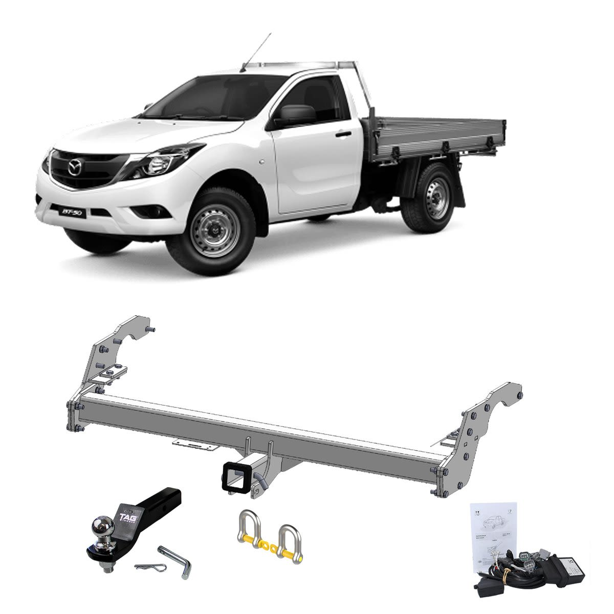 TAG Heavy Duty Towbar to suit Mazda BT-50 (09/2011 - on)