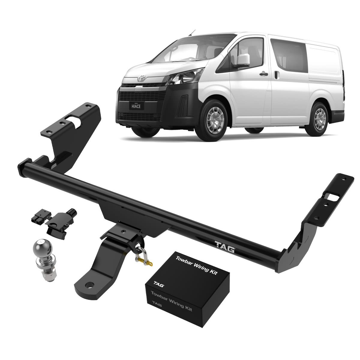 TAG+ Light Duty Towbar to suit Toyota Hiace LWB, SLWB & Commuter Bus  (06/2019 - on) - Direct Fit ECU