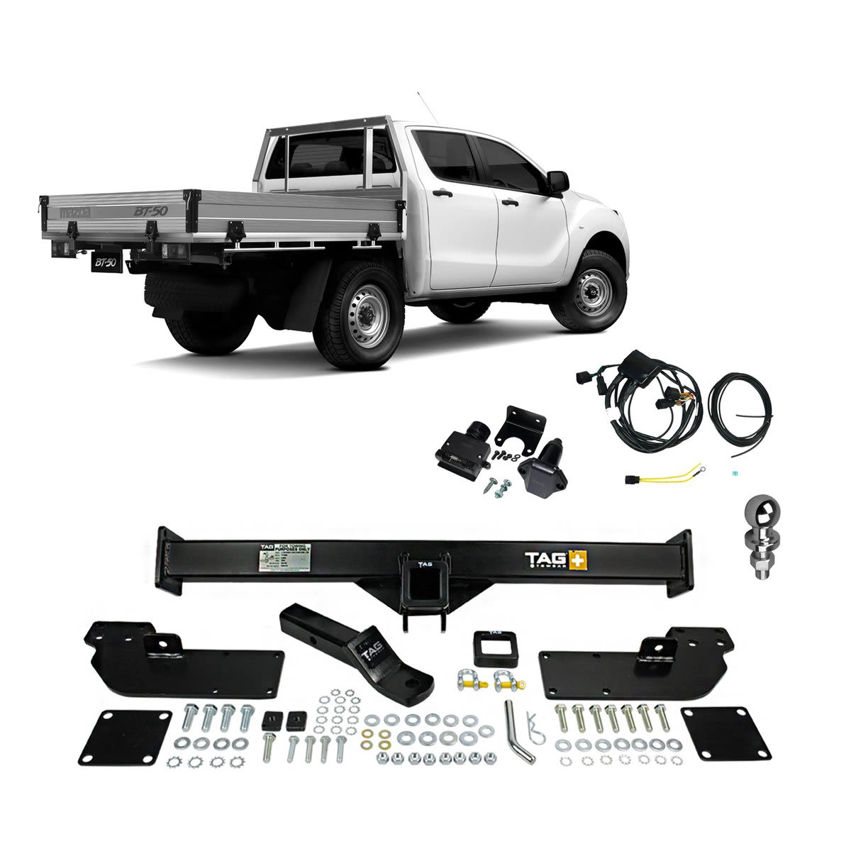 TAG Heavy Duty Towbar to suit Ford Ranger (01/2011 - on), Mazda BT-50 (11/2011 - on)