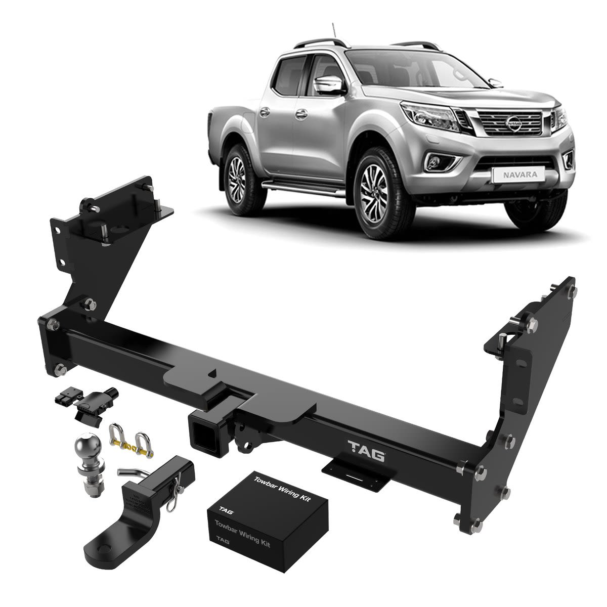 TAG Heavy Duty Towbar to suit Nissan Navara (01/2014 - on) - Direct Fit Bypass Wiring Harness