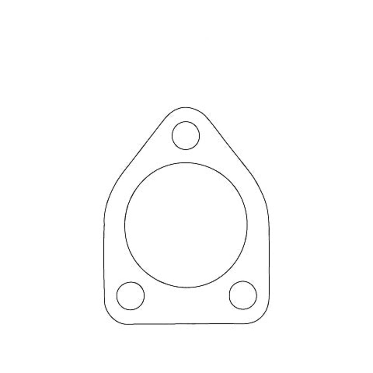 Flange Gaskets - Daihatsu Charade, 3 Bolts