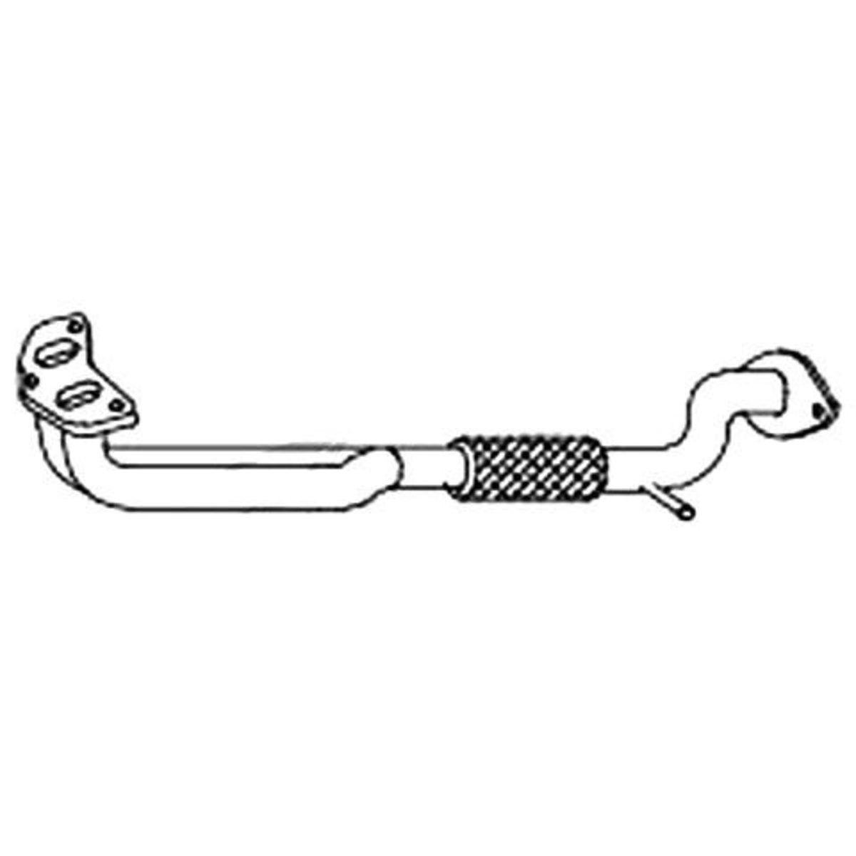 Redback Engine Pipe to suit Hyundai Scoupe (1992 - 1996), S Coupe (10/1992 - 05/1996)