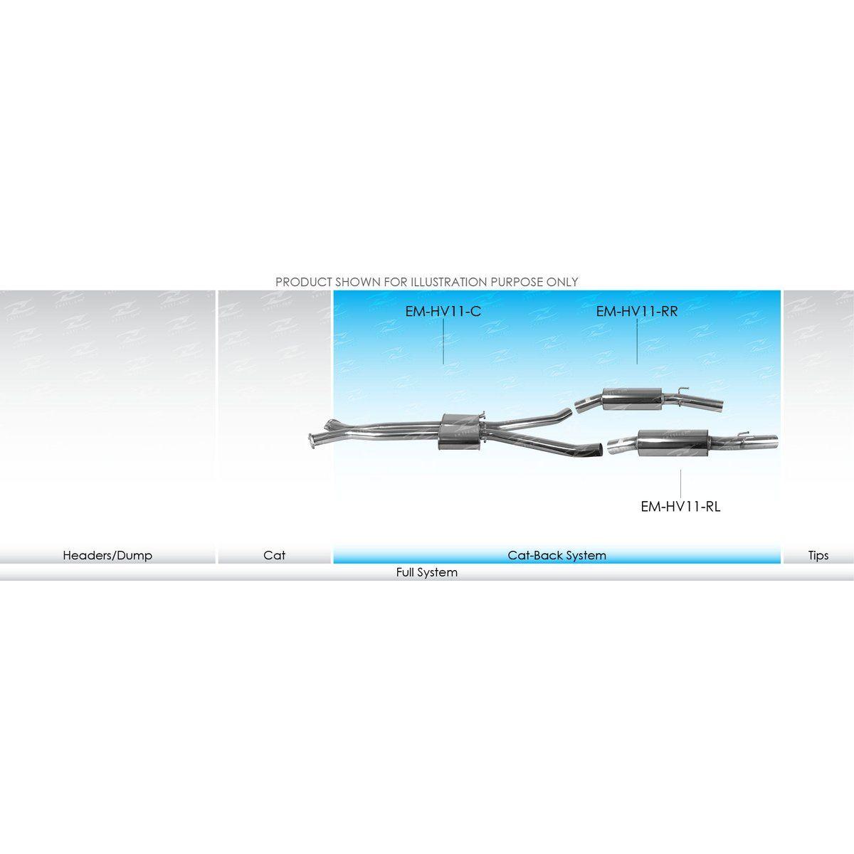 XForce Performance Mild Steel to suit HSV Maloo R8 (03/2001 - 2004), Maloo (03/2001 - 2004)