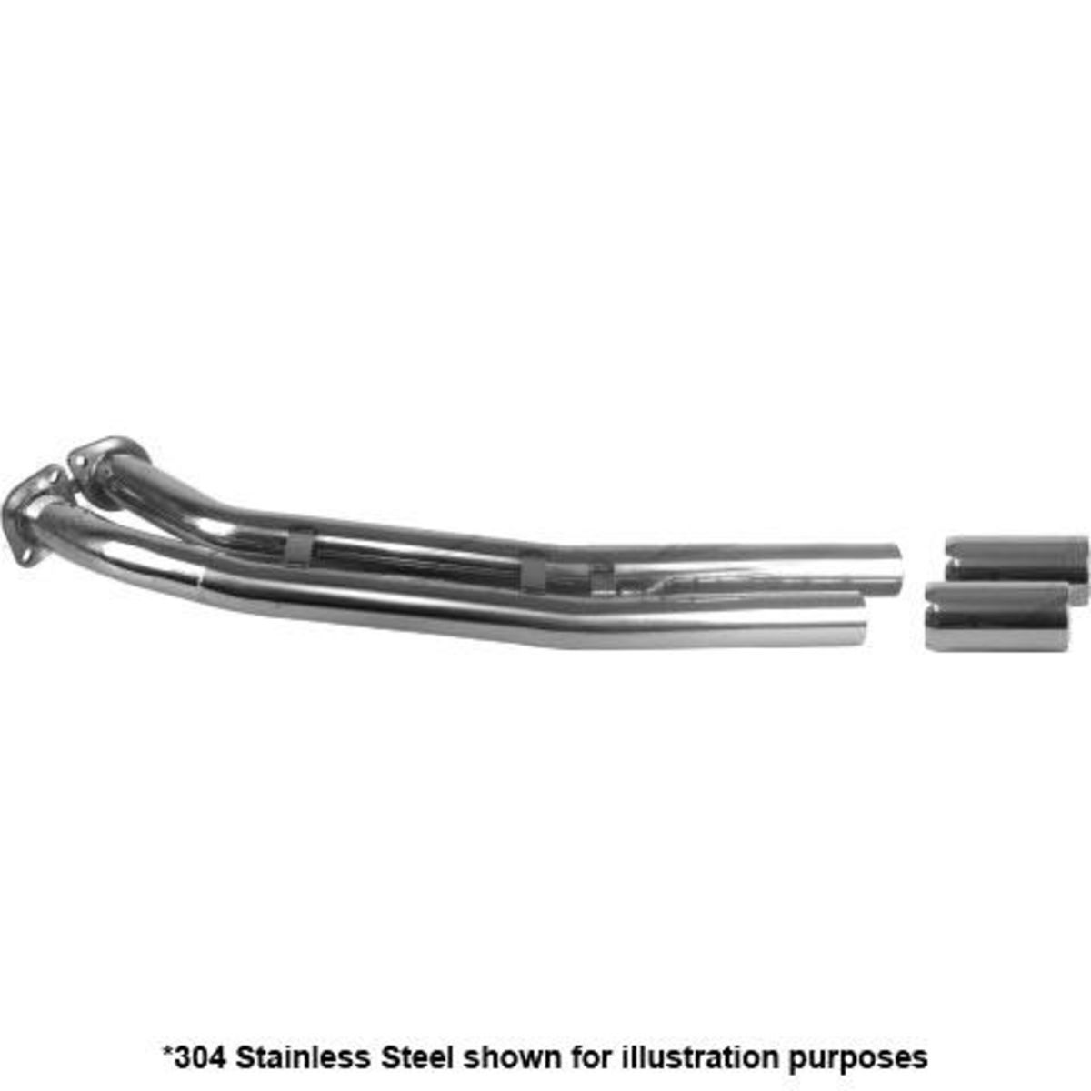 """COMMODORE VT-VZ UTE SS TWIN 2-1/2"""" WITH TAILPIPE REAR MIL STEEL"""