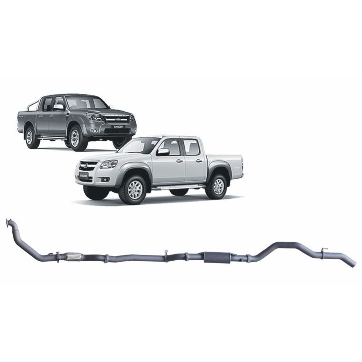 Redback Extreme Duty Exhaust to suit Ford Ranger (01/2006 - 08/2011), Mazda BT-50 (11/2006 - 10/2011)