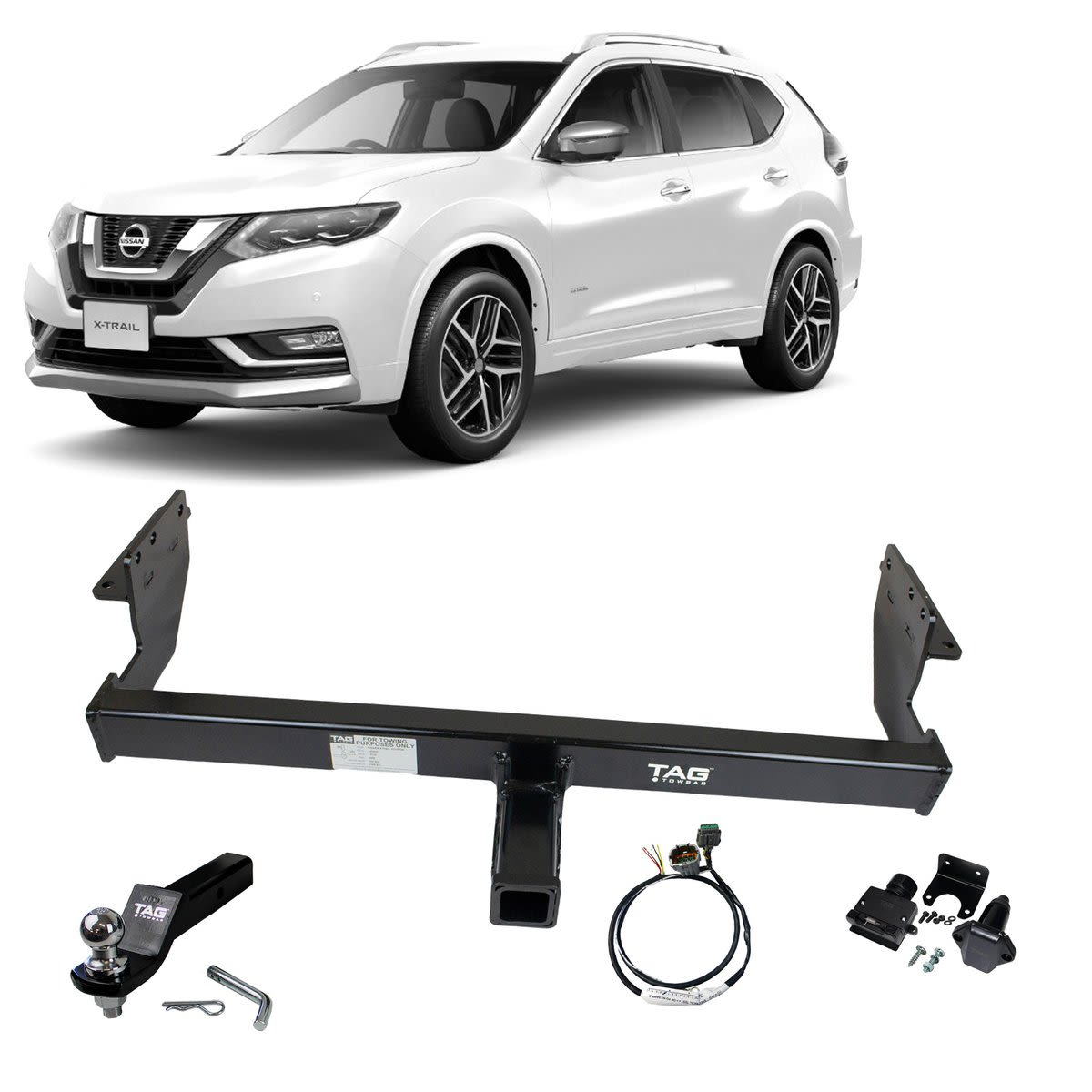 TAG Heavy Duty Towbar to suit Nissan X-TRAIL (12/2013 - on) - Direct Fit Digital Wiring Harness