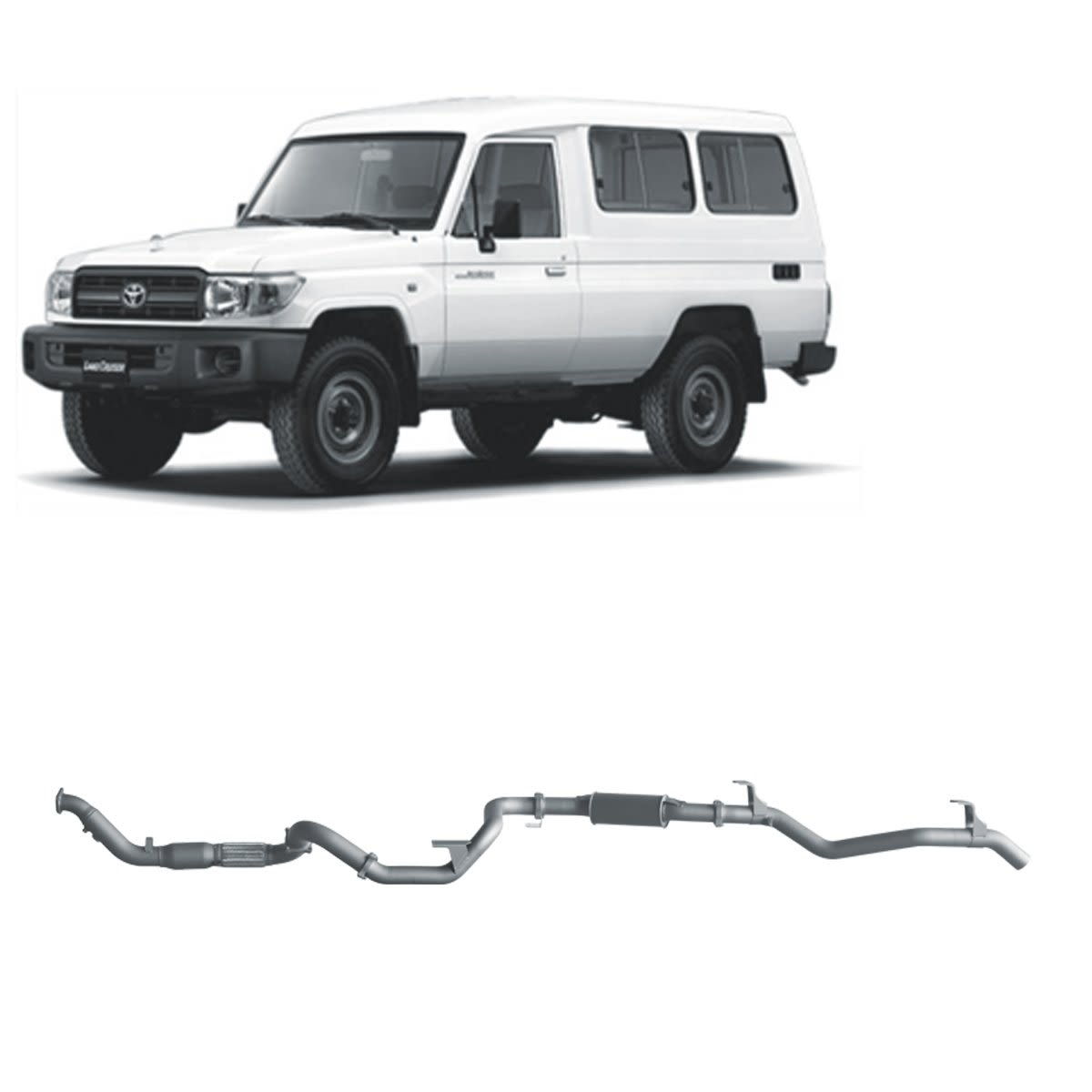 Redback Extreme Duty Exhaust to suit Toyota Landcruiser 78 Series 4.2L TD (01/2001 - 01/2007)