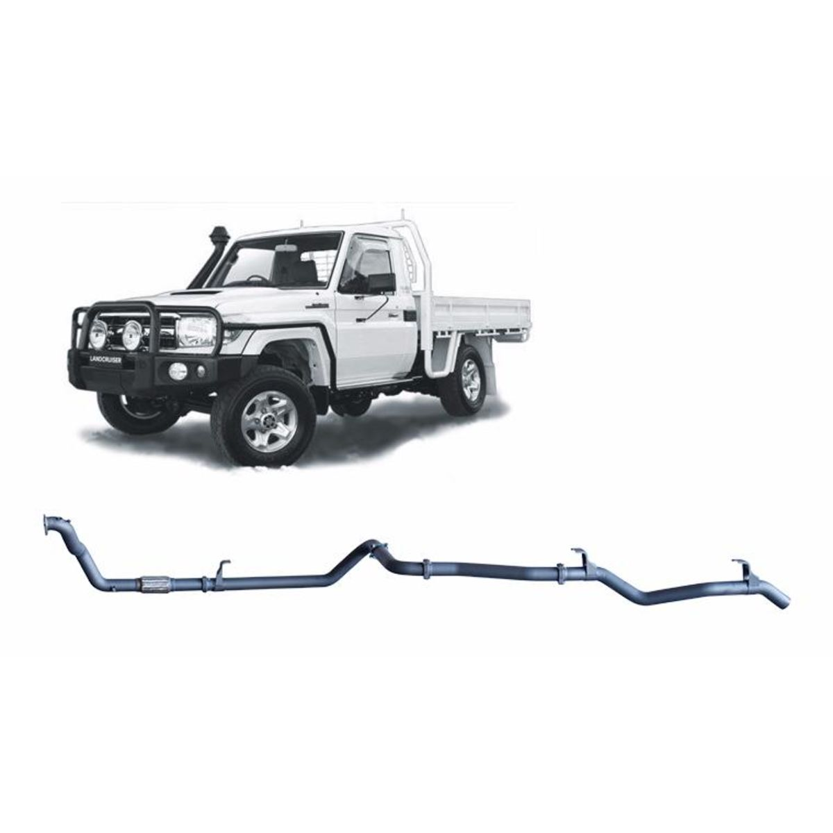 Redback Extreme Duty Exhaust to suit Toyota Landcruiser 79 Series 4.2L 1HZ (10/1999 - 01/2007)