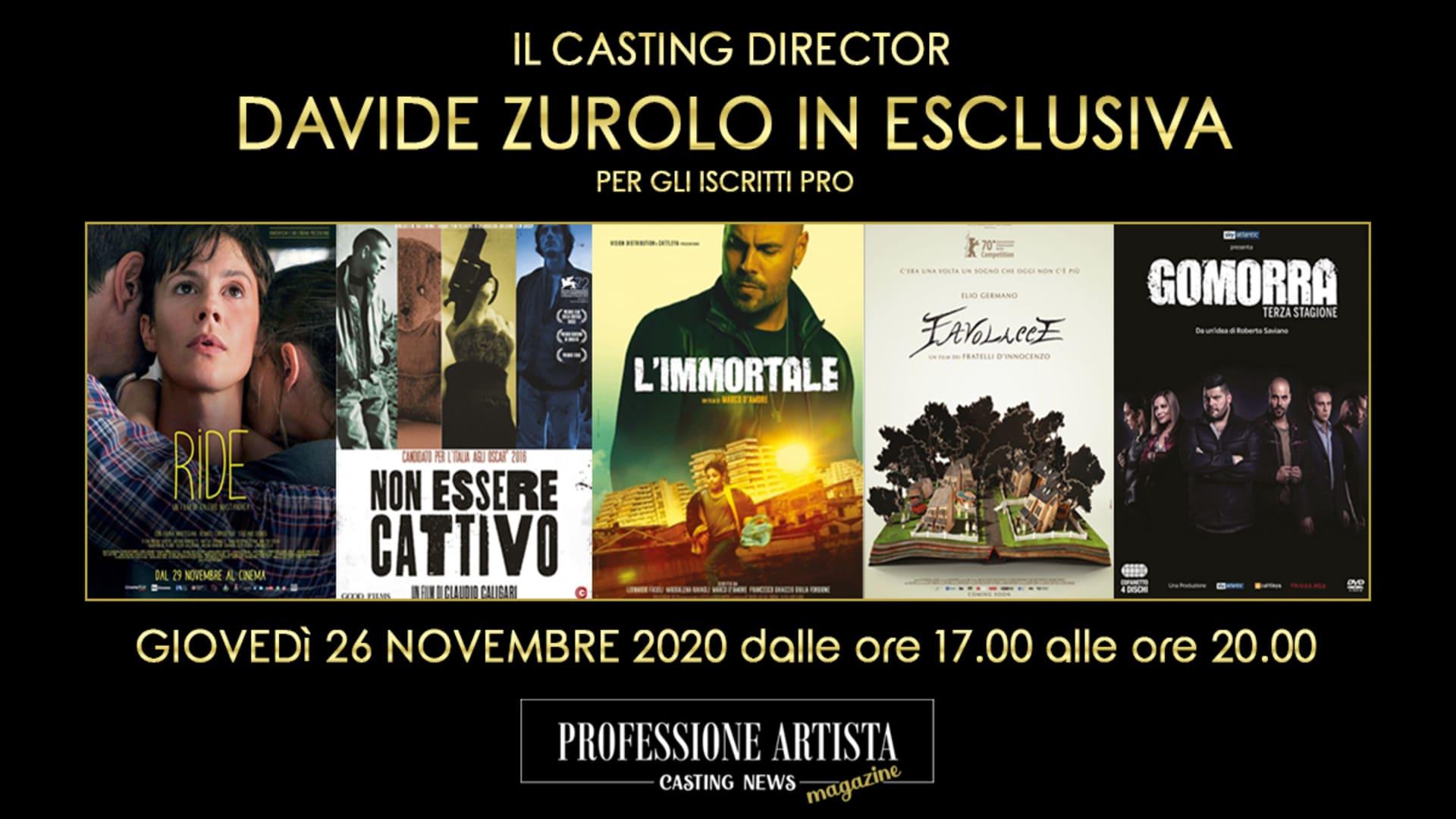 Attori - Davide Zurolo Novembre 2020
