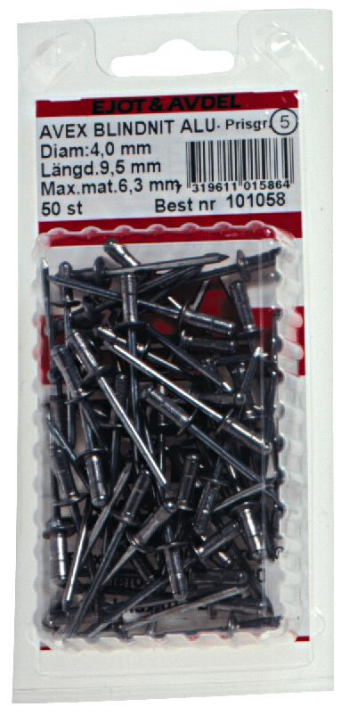 Ejot 101058 Blindnit AVEX aluminium/stål 40 x 95 mm STD 50-pack