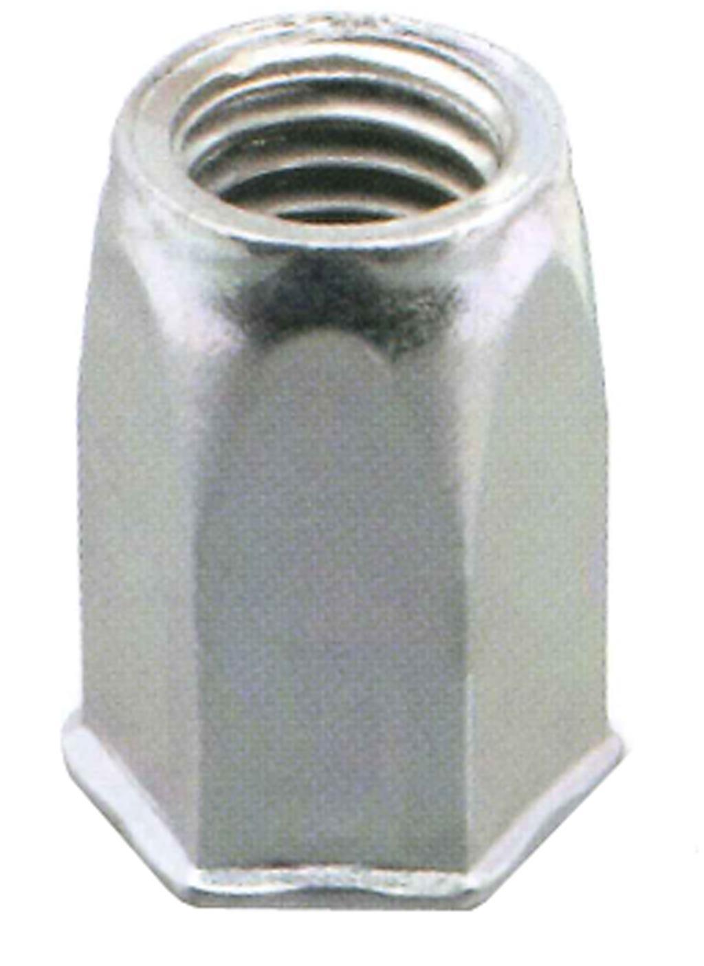 Ejot 460398 Blindnitmutter självförsänkt öppen sexkant 200-pack M6