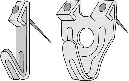 Thuresson Fastening 13133 X-Krok stål 18-29-30 mm 1-2 spikhål 13-pack
