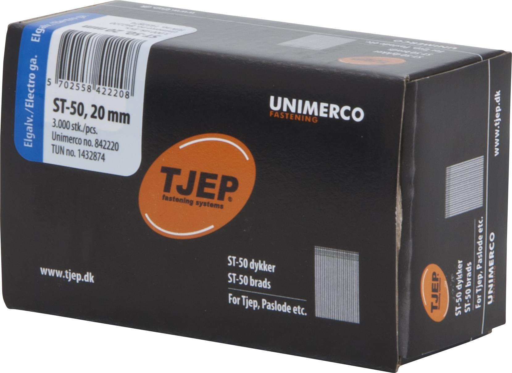 TJEP 842262 Dyckertset 18 x 20-25-30-35-40-50 mm ST-50 FZB 2400-pack