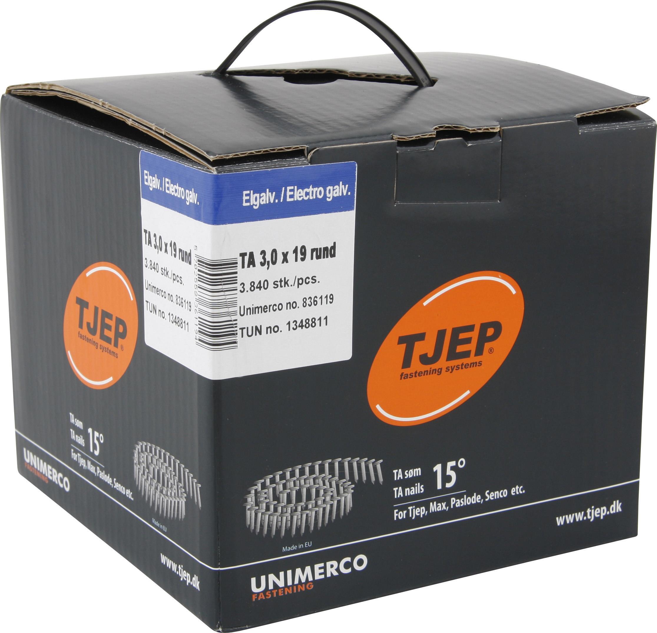 TJEP 836019 Pappspik rullbandad TA 3 x 19 mm FZV 3840-pack