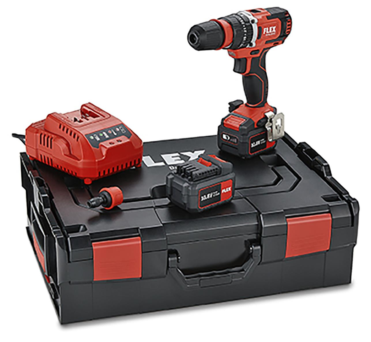 Flex PD2G 10.8-EC Set Slagborrmaskin med batterier och laddare