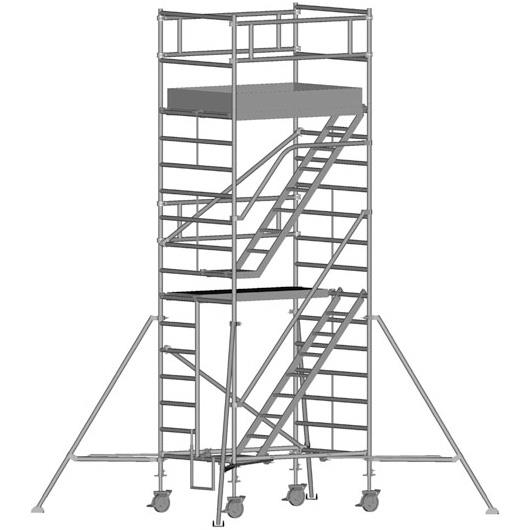 Zarges Z600 Trappställning 135x180x440 meter