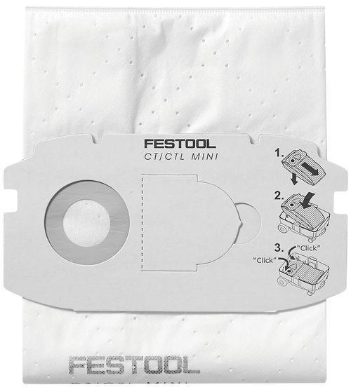 Festool SC FIS-CT MINI SELFCLEAN Filtersäck 5-pack