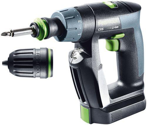 Festool CXS Li 26-Plus Skruvdragare med 26Ah batterier och MXC-laddare