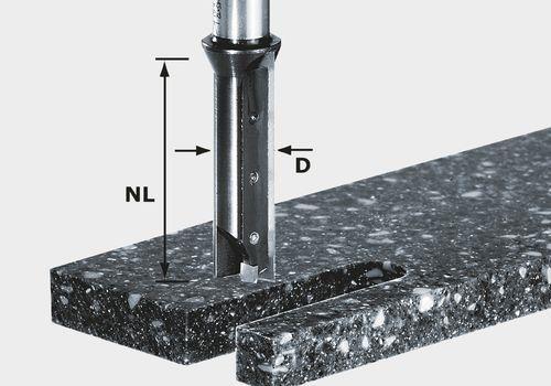 Festool HW S12 D14/45 WM Notfräs med vändskär 12mm spindel