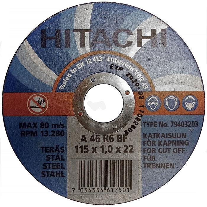 Hitachi 79403203 Kapskiva Ø115×10 mm