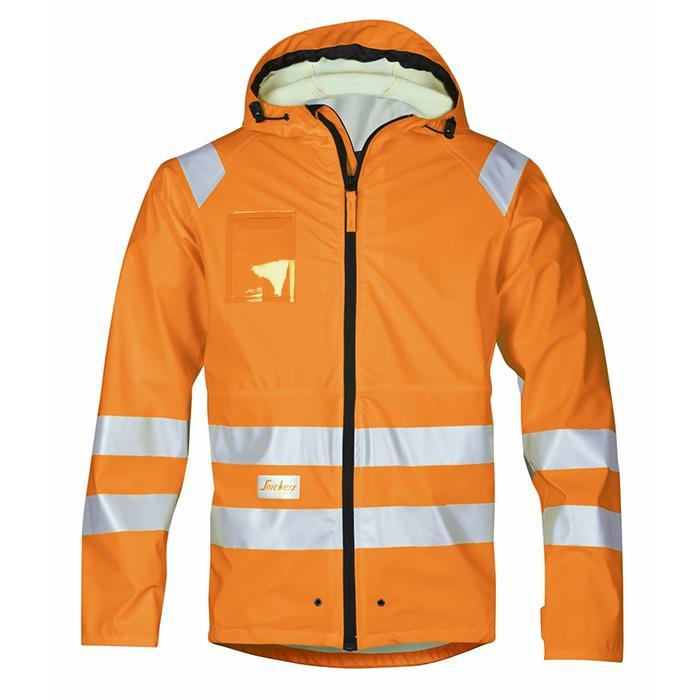 Snickers 8233 Regnjacka varsel orange Strl M