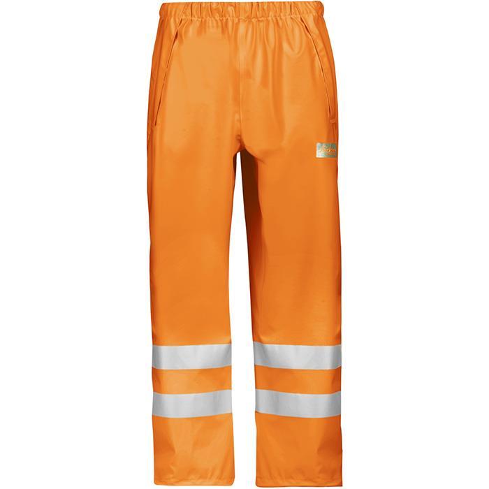 Snickers 8243 Regnbyxa varsel orange Strl XS