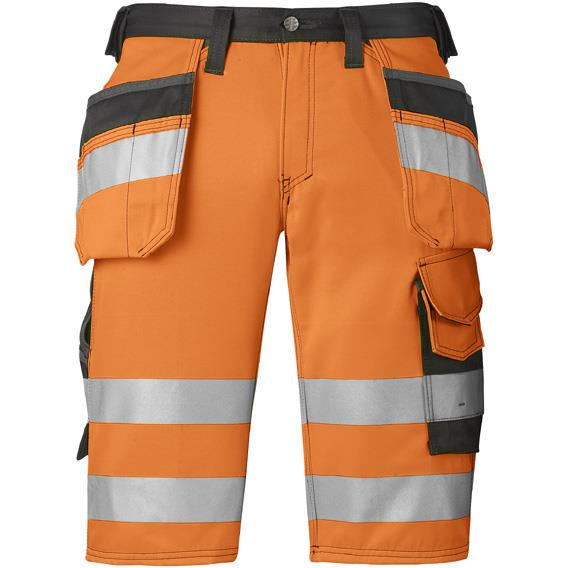 Snickers 3033 Shorts varsel orange Strl 44