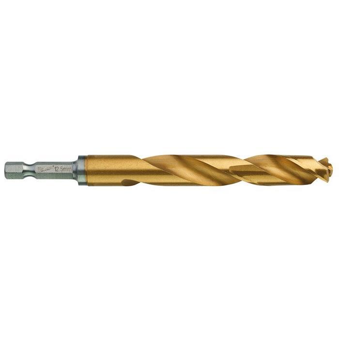 Milwaukee SHOCKWAVE Red Hex HSS-G TIN Metallborr 1-pack 125 mm