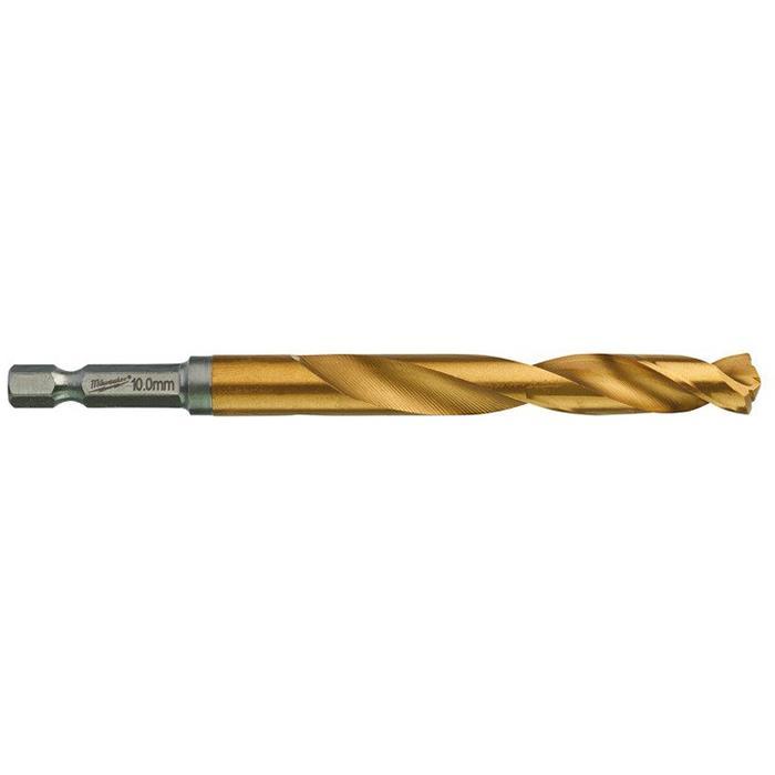 Milwaukee SHOCKWAVE Red Hex HSS-G TIN Metallborr 1-pack 10 mm