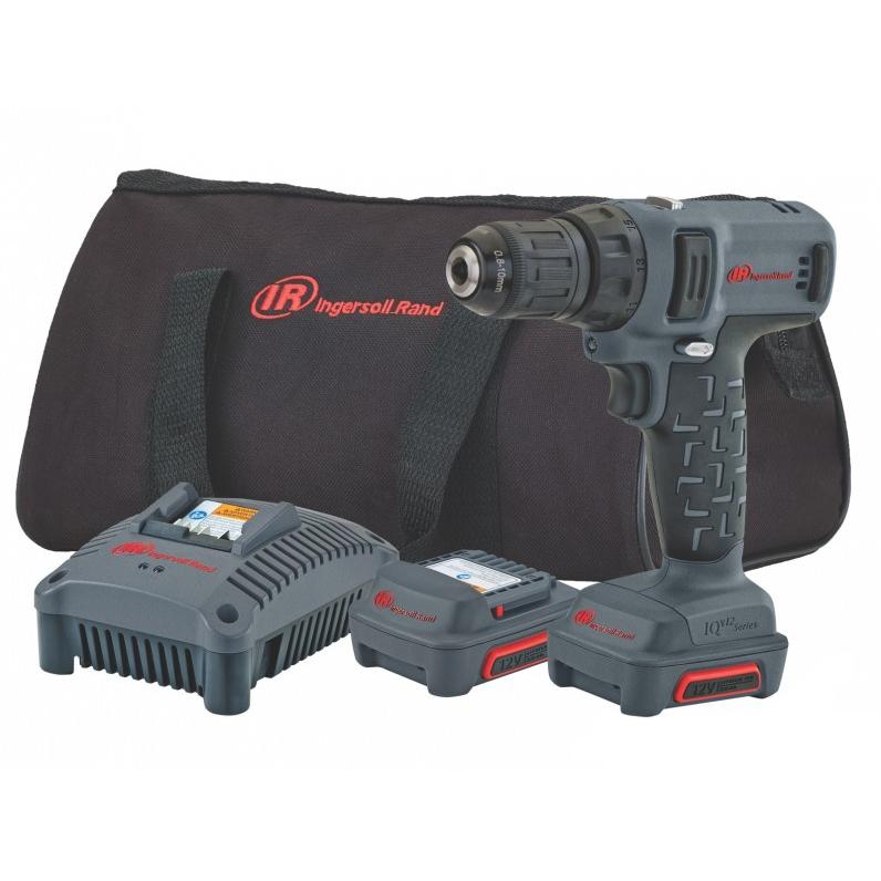 Ingersoll Rand D1130EU-K2 Borrmaskin med 20Ah batterier och laddare