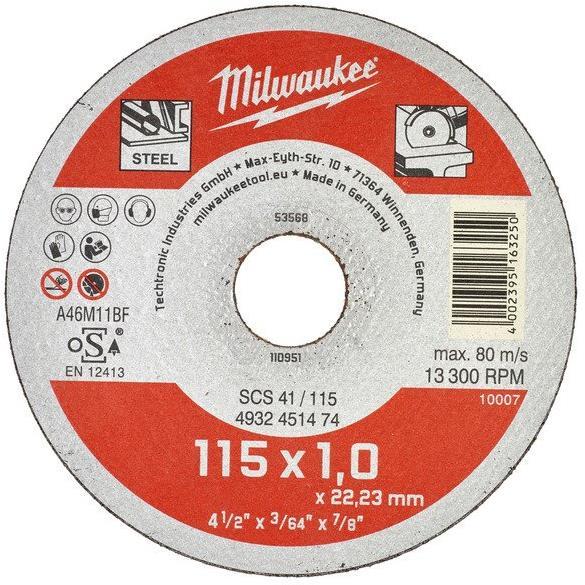 Milwaukee SCS 41 Contractor Kapskiva 115×1 mm