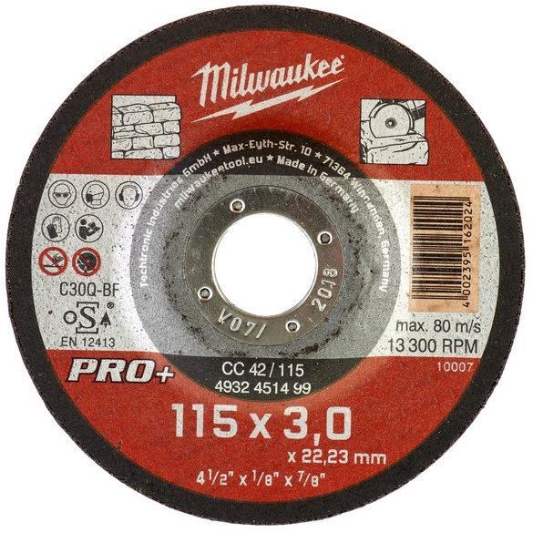 Milwaukee CC 42 PRO+ Kapskiva 115×3 mm
