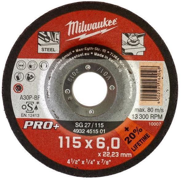 Milwaukee SG 27 PRO+ Kapskiva 115×6 mm