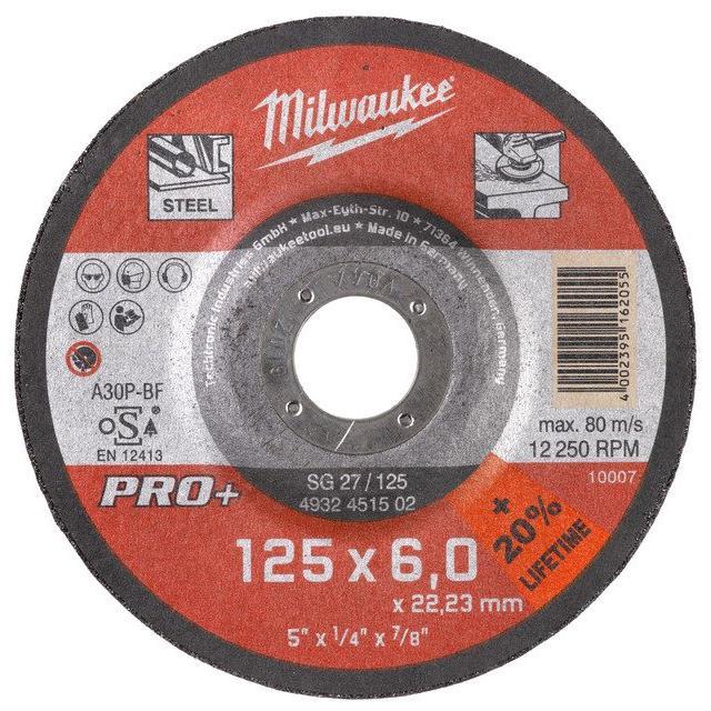 Milwaukee SG 27 PRO+ Kapskiva 125×6 mm