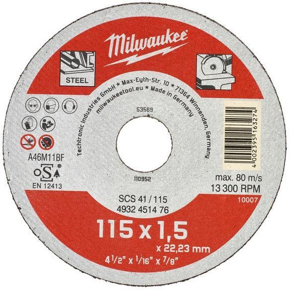 Milwaukee SCS 41 Contractor Kapskiva 115x15mm